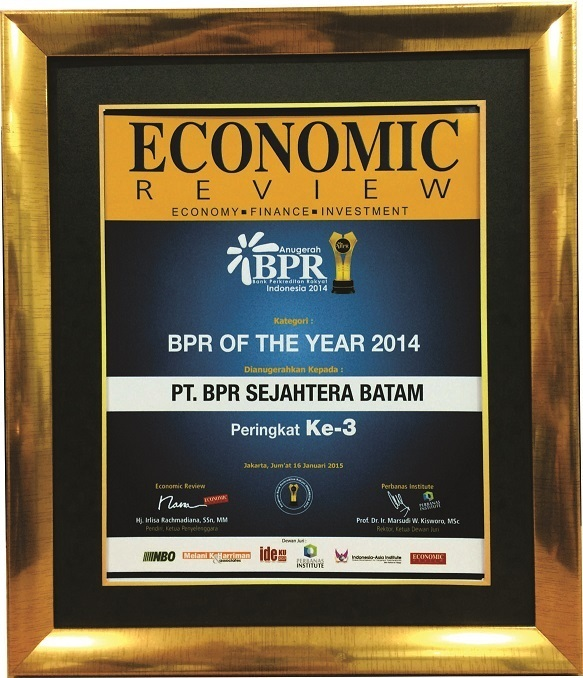 Peringkat Ke 3 BPR OF THE YEAR 2014